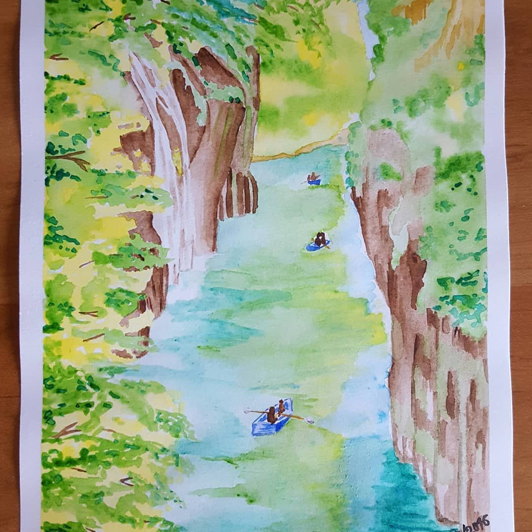 Canyon Realise D Apres Photo Dapresphoto Dessin Aquarelle