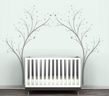 Littlelion Studio Blossom Twinkling Tree Gate Wall Decal modern kids decor