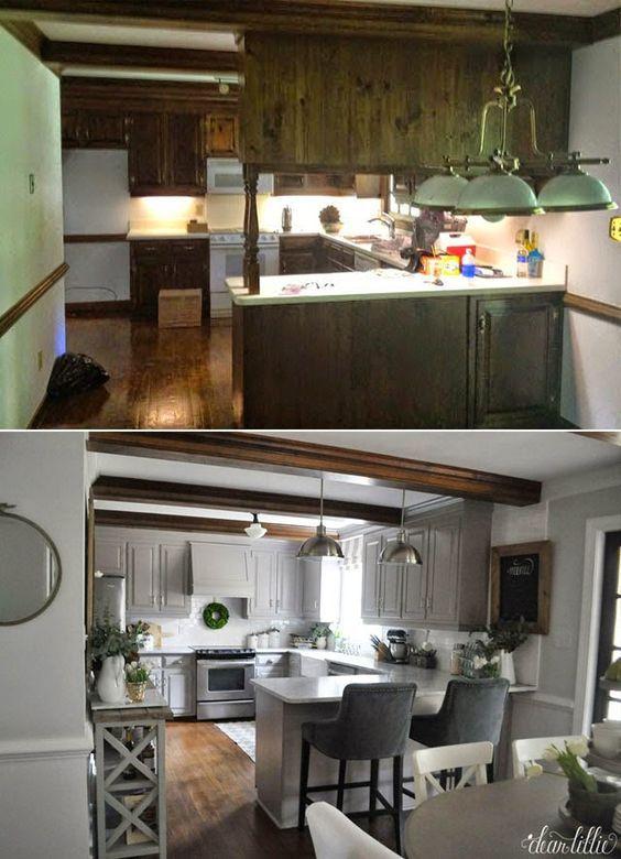 Ideas para remodelación de cocinas antes y despues (9 Remodelacion - remodelacion de cocinas