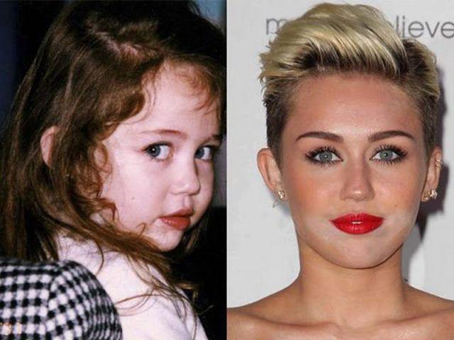 famosos en su niñez