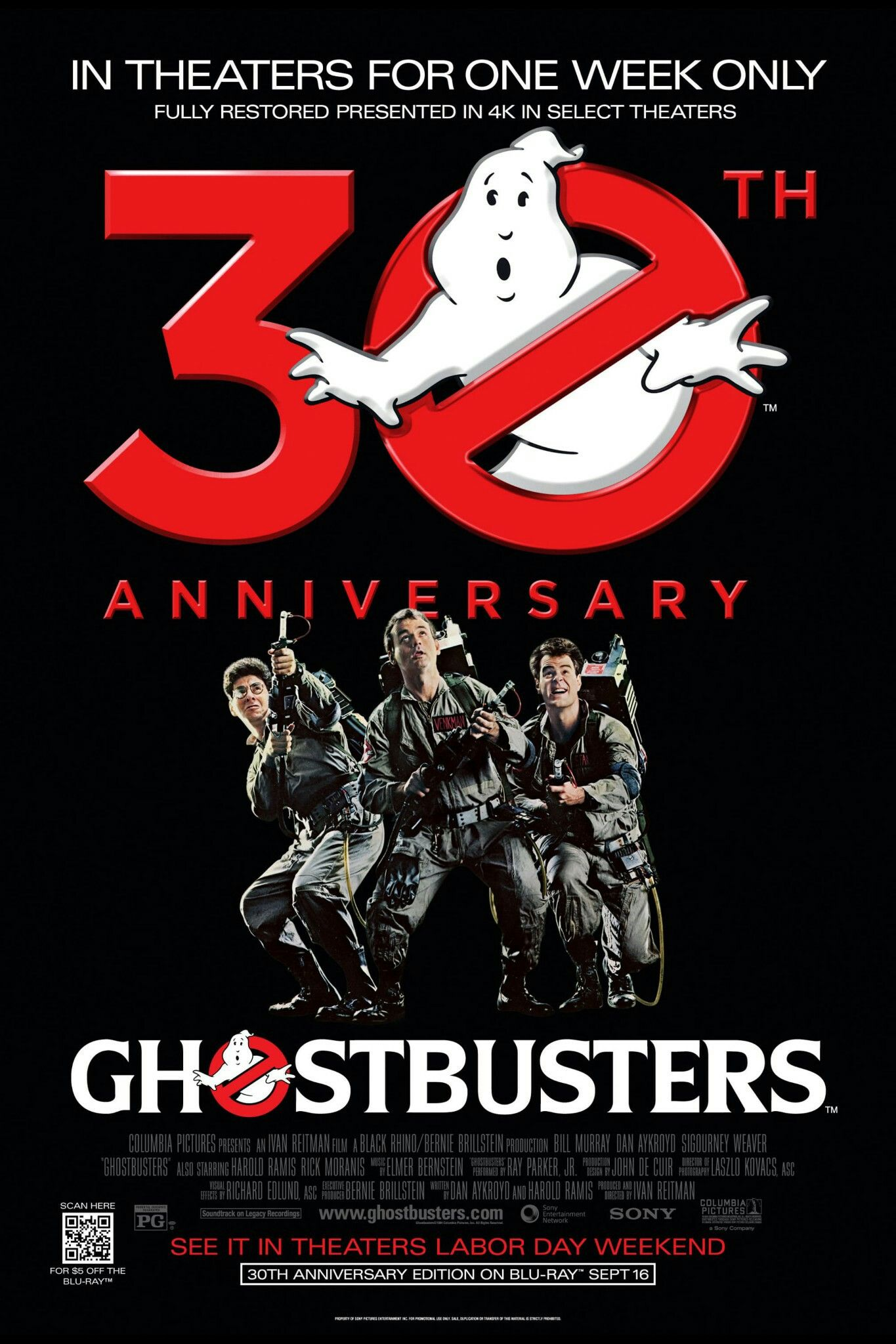 Ghostbusters 1984 Movie Poster Ghostbusters Fantastic Movie