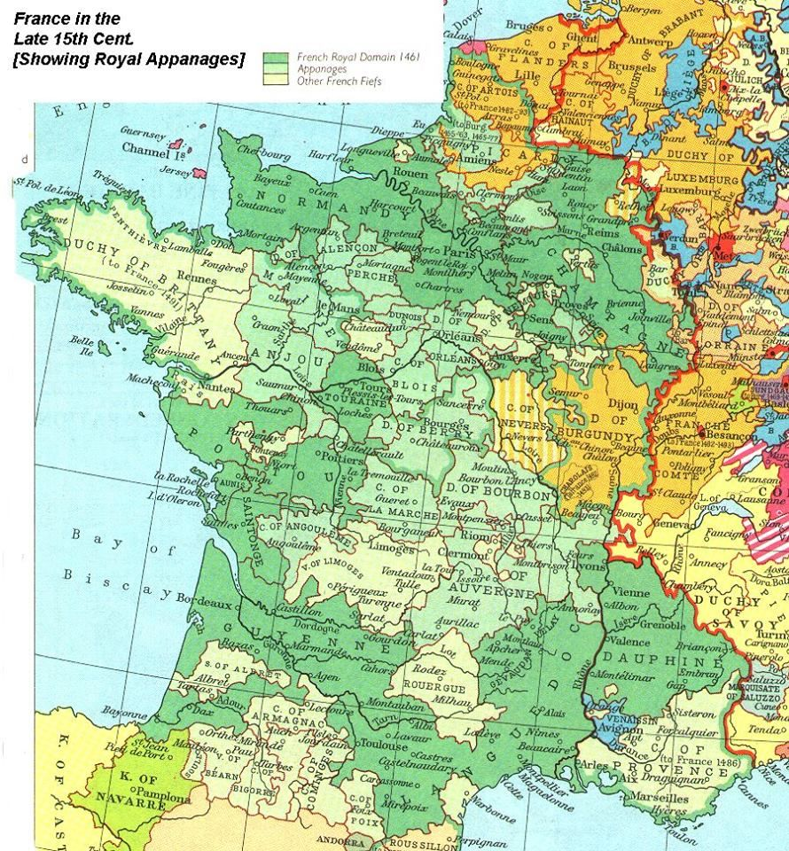 Map france in 1461 from muir historical atlas 1911 via wikipedia map france in 1461 from muir historical atlas 1911 via wikipedia carte gumiabroncs Images