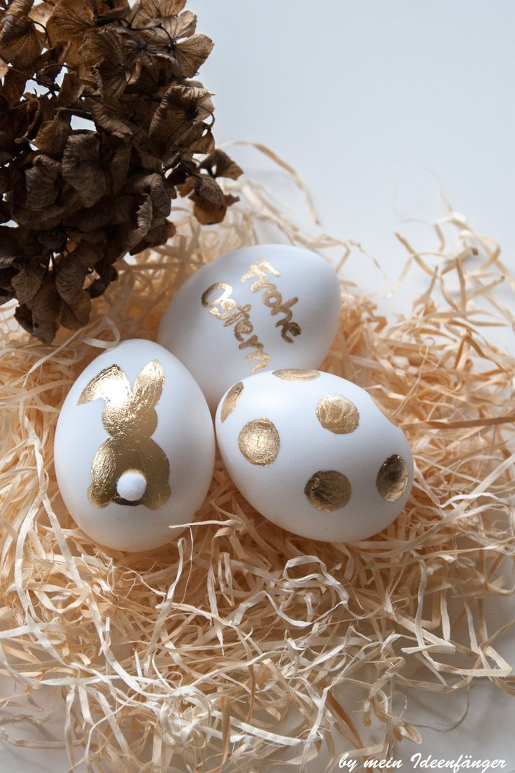 Photo of Gluing the Easter eggs with gold leaf is a very simple and beautiful DIY …
