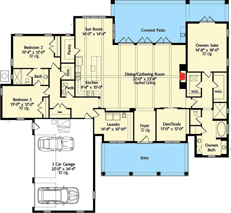 High End Home Design Ideas: Plan 42837MJ: High-End Southern House Plan