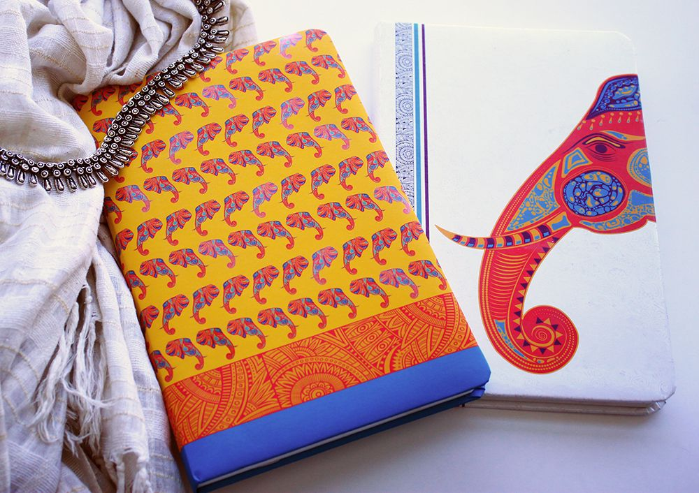 Our #elephant #diaries are the cutest of our #ethnic range! It's #yellow with a dash of #Blue and the #elephant #pattern makes it adorable! And the #white base with #Red #Elephant print makes it irresistible! Do you agree? #DoodleCollection #doodle #Notebook #Journals #Designerdiaries #DesignerNotebooks #B5 #B5Notebooks #PaperProducts #Stationery #OfficeSupplies #PreiumDiaries