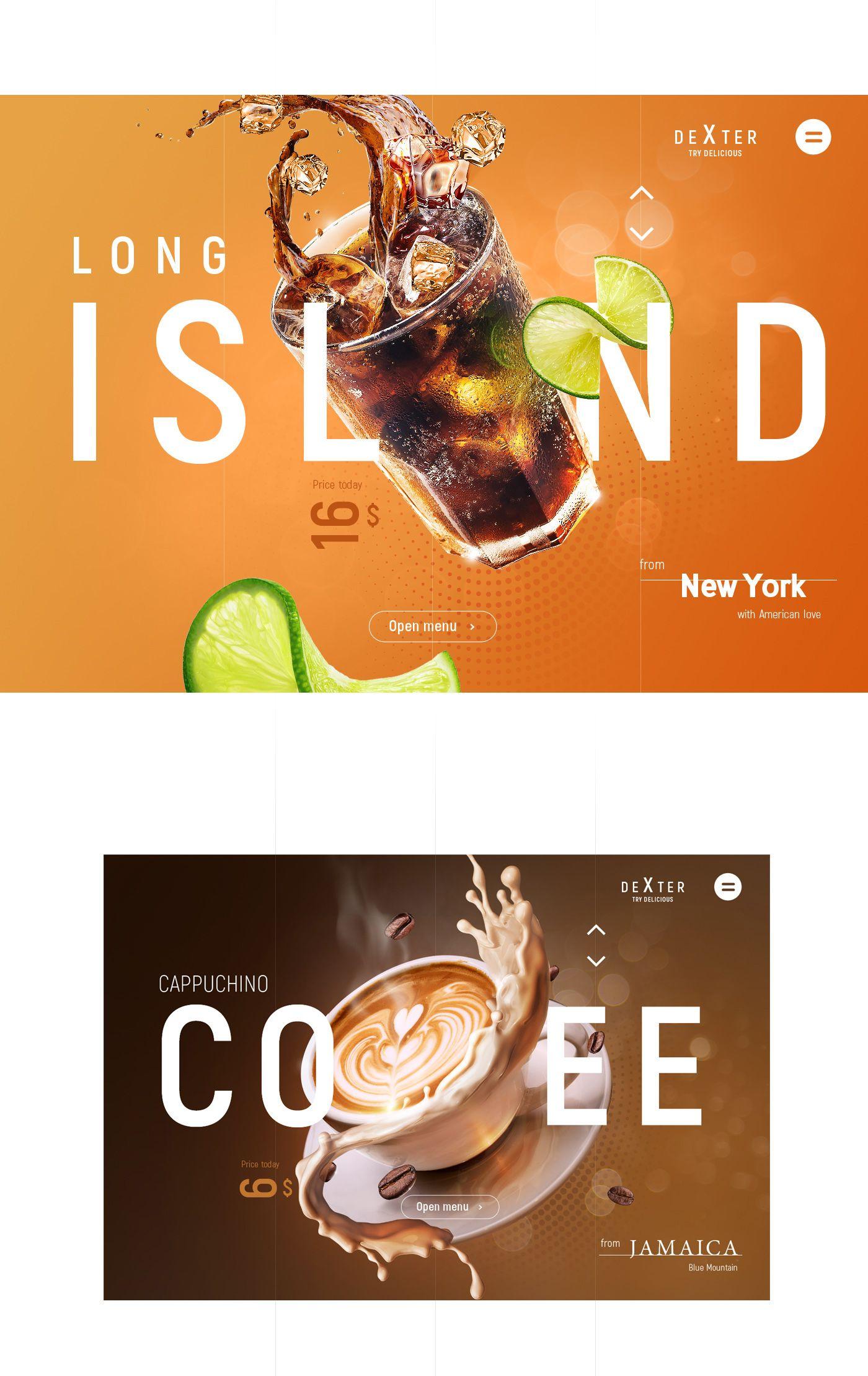 Dexter Cafe On Behance Food Graphic Design Food Poster Design Creative Poster Design