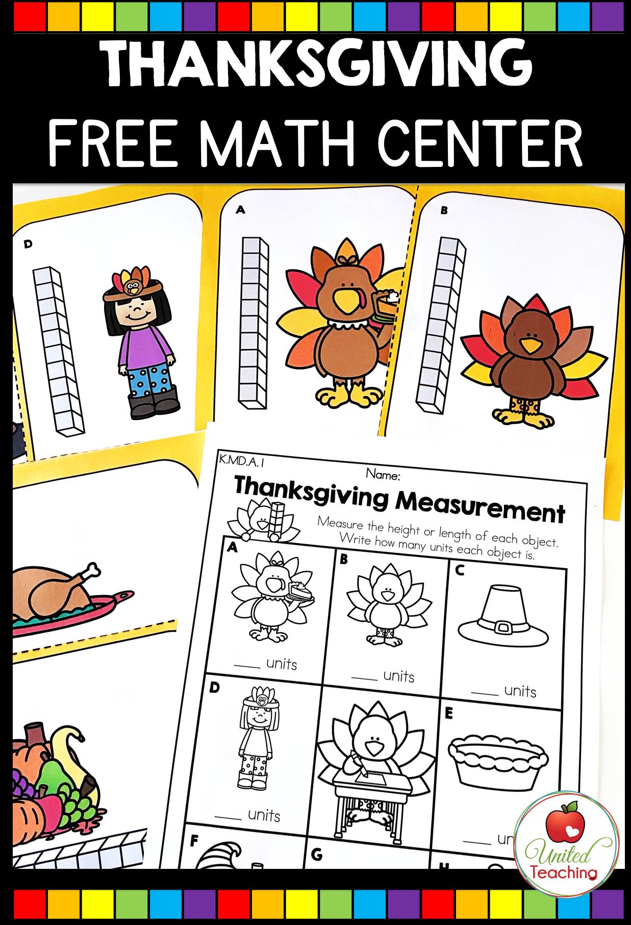Thanksgiving Measurement Math Center