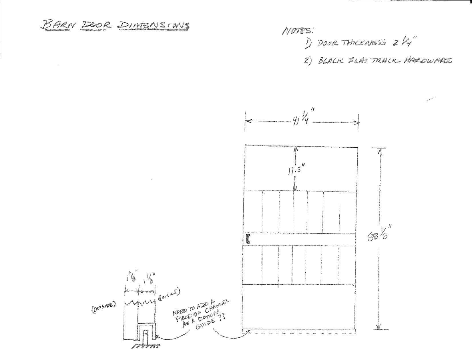 20101130 Barn Door Dimensions Steve Miller 1 Barn Door Part 2