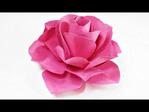 Rose Aus Papier Falten Einfach Basteln Machen Selber Basteln