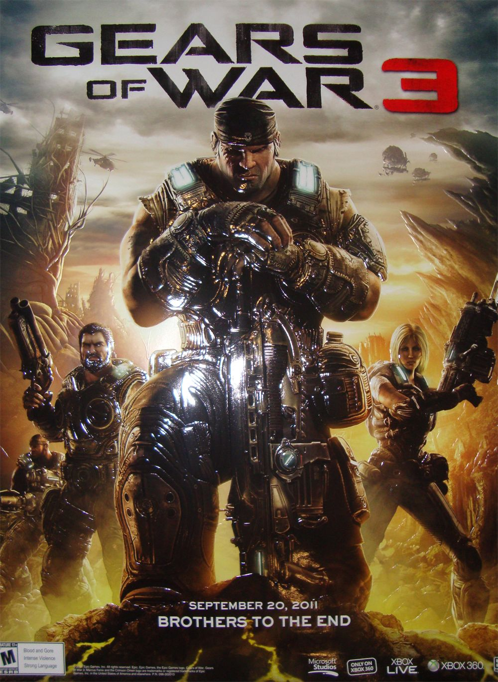 Poster Jpg 1000 1368 Juegos Para Xbox 360 Gears Of War 3 Xbox 360