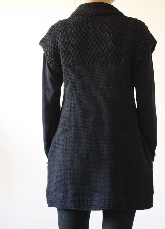 Knitting Pattern PDF: Ebony womens tunic knitting pattern | Túnicas ...