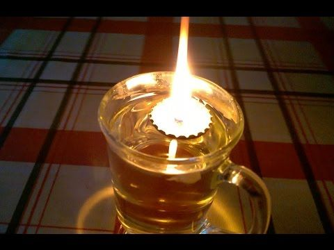 How To Make A Floating Wick Oil Lamp From A Bottle Top Youtube Oil Lamps Oil Candles Diy Oil Light