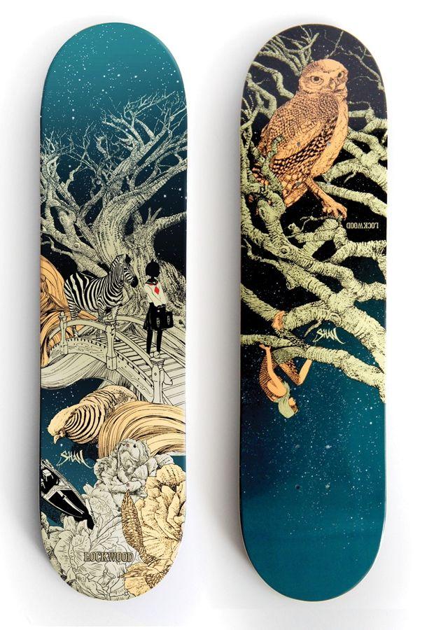 Lockwood Deck Series Skateboard Deck Art Skateboard Art Skateboard Design