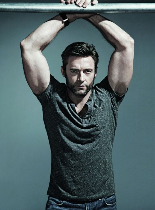 Hugh Jackman! He looks so handsome! At age 45 he is mature ...