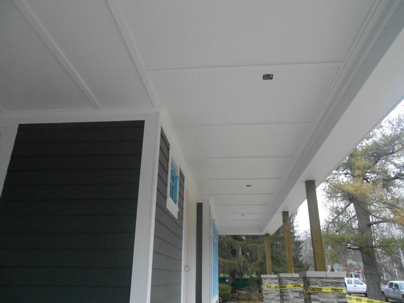 James Hardie Smooth Panel W Batten Strips Porch