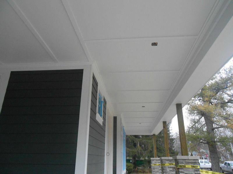 James Hardie Smooth Panel W Batten Strips Custom Porch