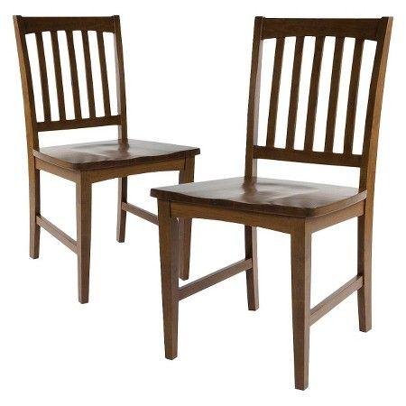 Slat Back Dining Chair   Chestnut  Set of 2    Threshold    Target. Slat Back Dining Chair   Chestnut  Brown   Set of 2    Threshold
