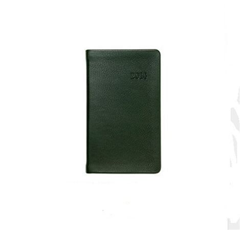 Graphic Image Traditional 2014 Notebook Planner (Green) Features month and week-at-a-view appointment pages. Cream-white, acid-free paper with gilt edges. Size: 5-3/8 x  7-3/8, 224 pages. Traditional soft, full-grain calfskin leather available five colors. All Traditional leather dates are blind embossed.  #GraphicImage #OfficeProduct