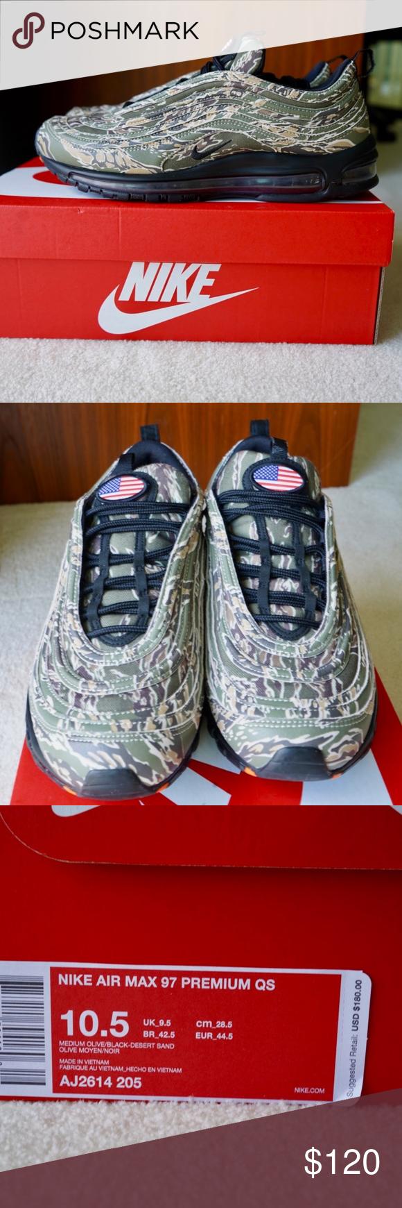 92ba475fa6 Nike Air Max 97 Premium QS USA Camo Pre-owned with box. Worn casually