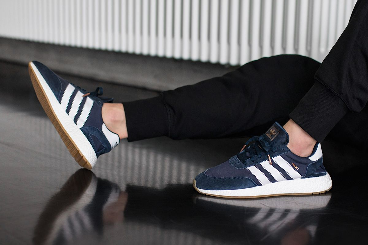On Foot: adidas INIKI Runner (Red & Collegiate Navy | Coole