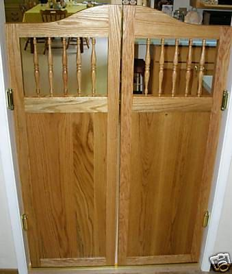 oak cabinet shaker style cafe saloon doors - Shaker Cafe Ideas
