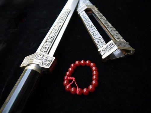 YITIAN JIAN Carbon steel alloy Tosogu Chinese sword Paint scabbard/Videos sword