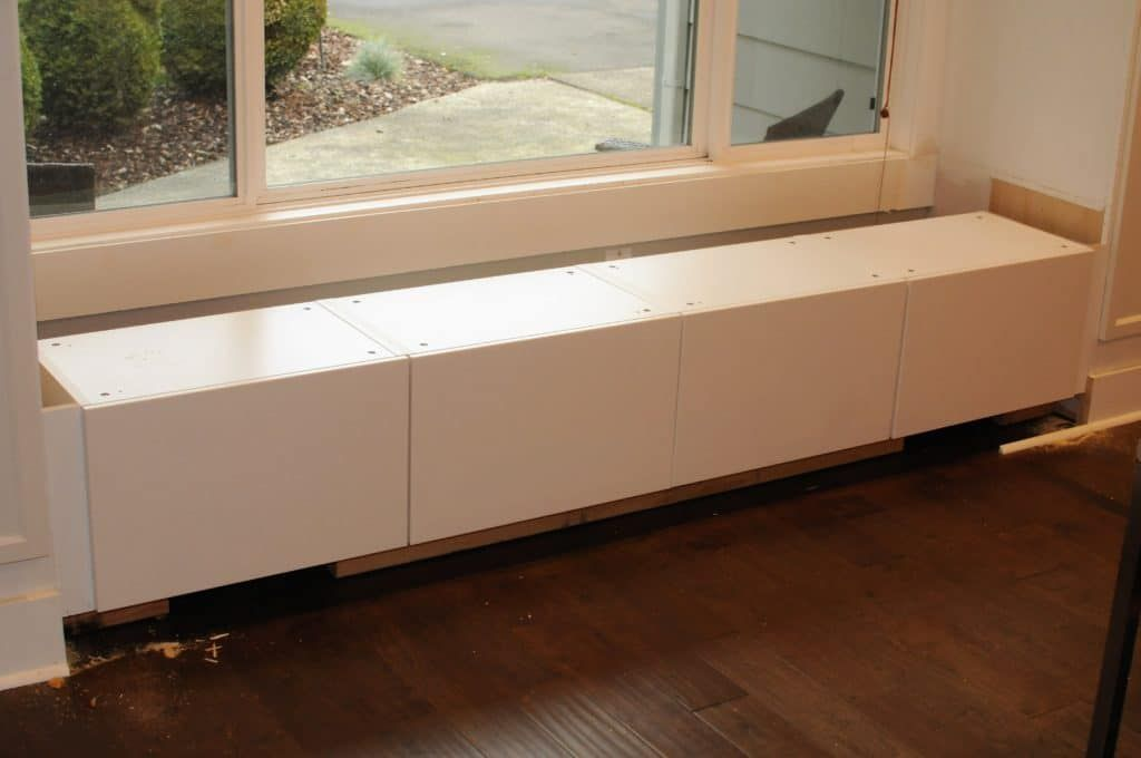 Diy window seat with storage out of ikea diy