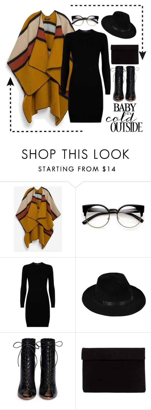 """""""How to wear a poncho #1"""" by ravensstylehaven on Polyvore featuring Zara, Polo Ralph Lauren and Gianvito Rossi"""
