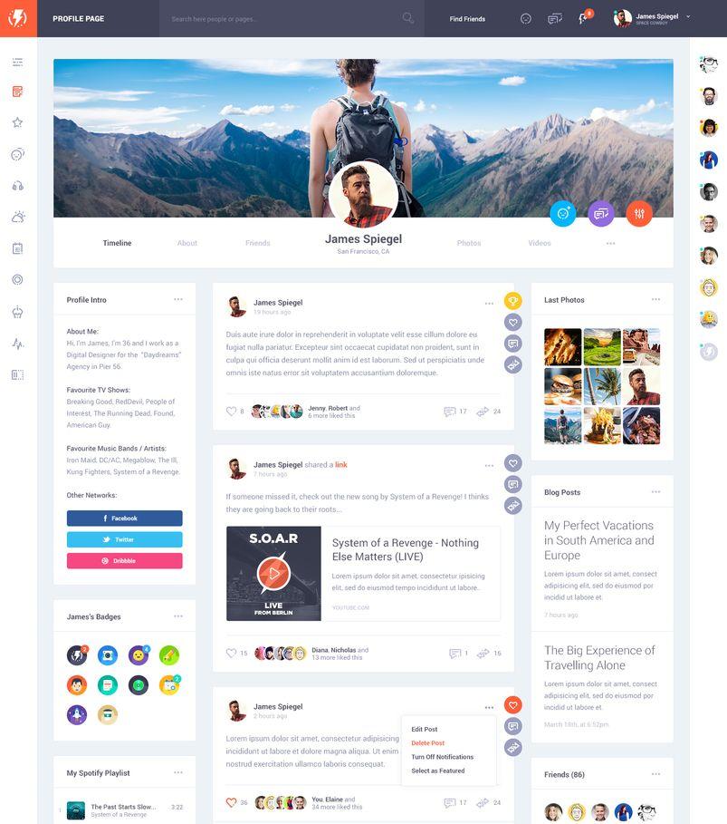 Картинки по запросу social network templates Social Template