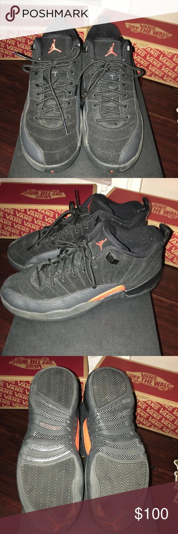 low priced a4e80 4647d Jordans Size 7 youth size 9 women jordan 12 max orange ...