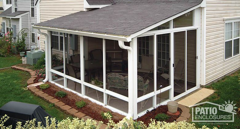 Screen room screened in porch designs pictures patio enclosures stuff for home - Screen porch roof set ...