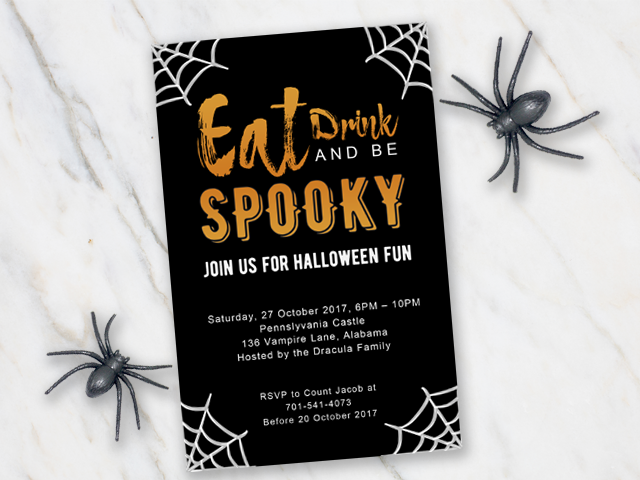 Be spooky! Invite your guests for a Halloween party with this easy ...