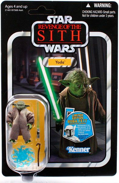 Vintage Collection Yoda Action Figure Vc20 On Revenge Of The Sith Card Star Wars Action Figures Sith Action Figures