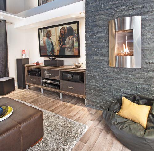 Foyer Mural Salon : Un vrai sous sol de gars condos houses and lofts