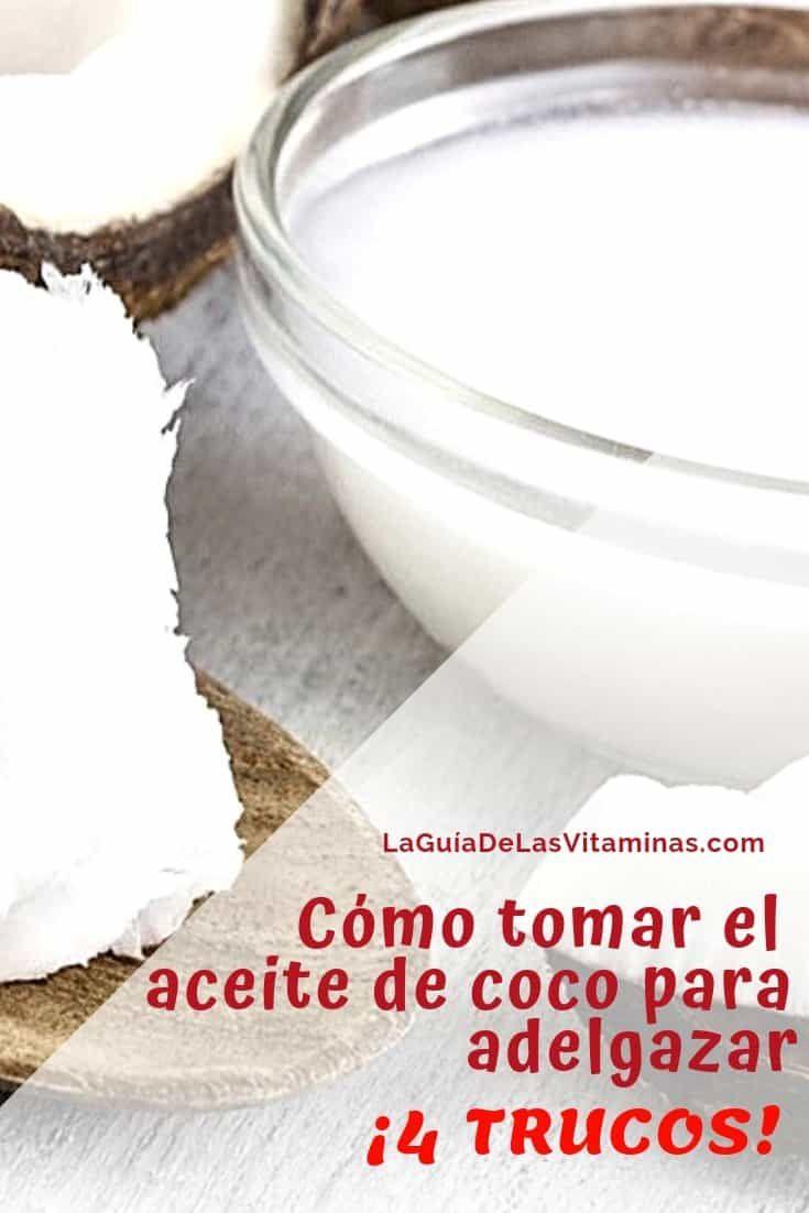 Pastillas de aceite de coco para bajar de peso