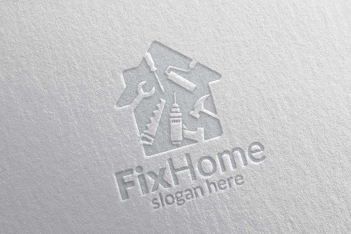 Real estate Logo, Fix Home Vector Logo Design suitable for