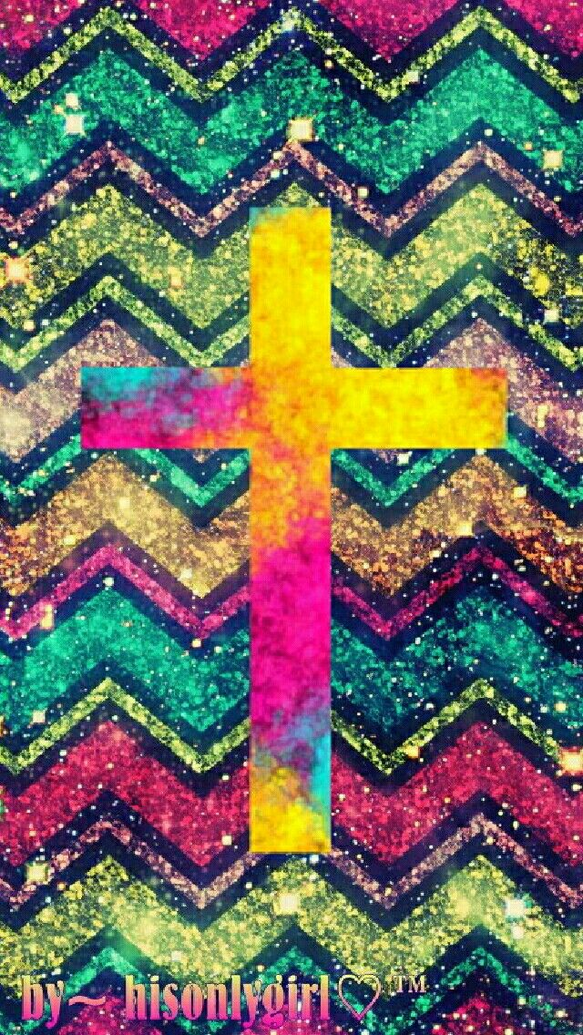 Chevron Cross Galaxy Glitter Wallpaper I Created For The App Cocoppa Jpg 640x1136 Girly Wallpapers Aztec