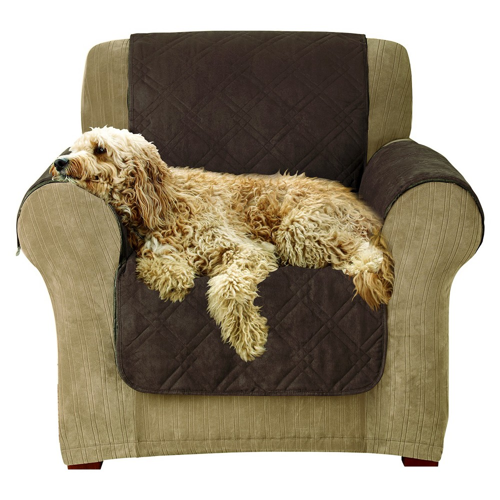 Furniture Friend Microfiber Nonskid Chair Pet Cover Chocolate (Brown) - Sure Fit