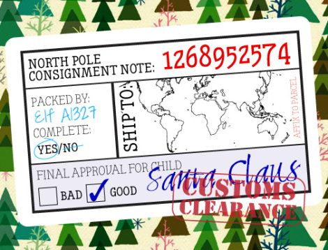 Straight From Santa  Christmas    North Pole Note And