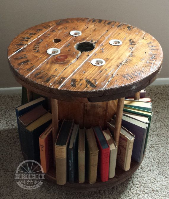 A gorgeous handmade piece inspired by industrial cable for Small wire spool ideas