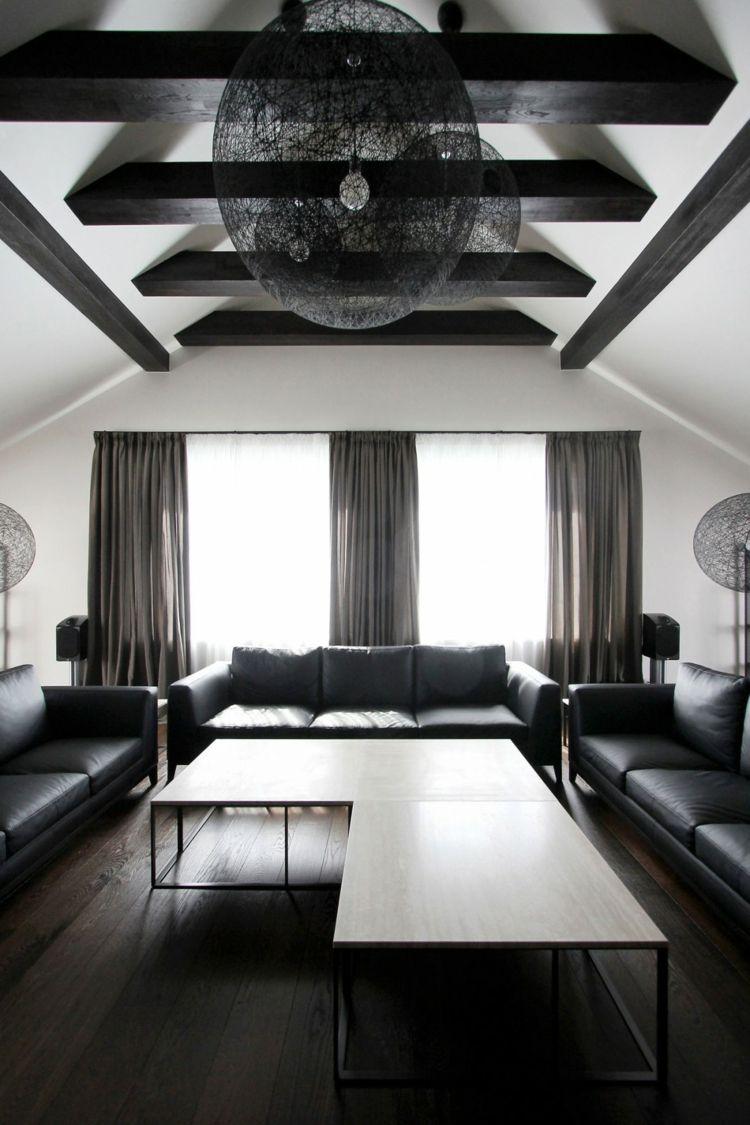 Badezimmer ideen dunkle holzböden traumhäuser  penthouse design im monochromen stil von ramuna