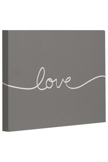 Genial Love Wall Decor Canvas   Gray/White On HauteLook    Love This Canvas!