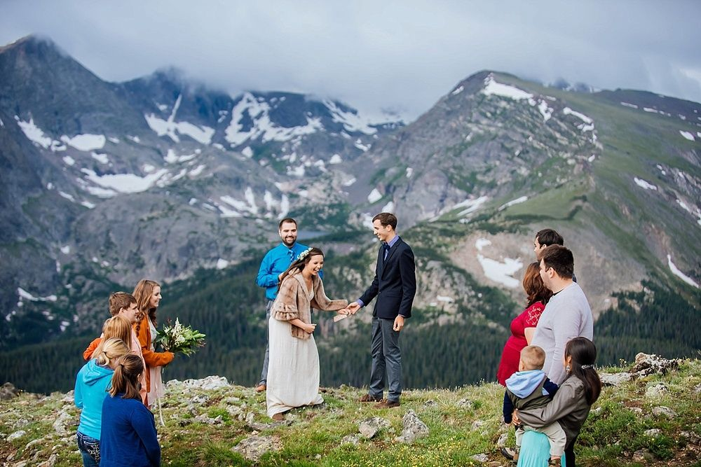 This beautiful intimate wedding was photographed on Trail Ridge