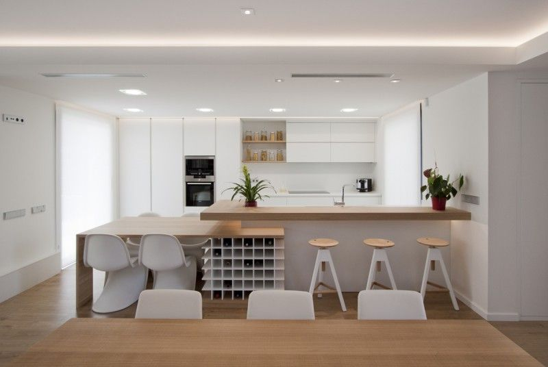 Mesa comedor, botellero y barra cocina | IN. KITCHENS | Pinterest ...