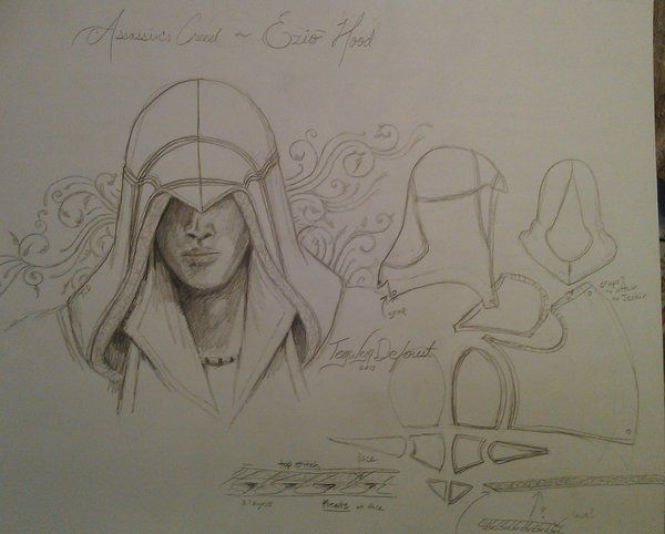 Assassin's Creed Ezio Hood Pattern By TegwynDeForest Ezio Cool Assassin's Creed Hood Pattern