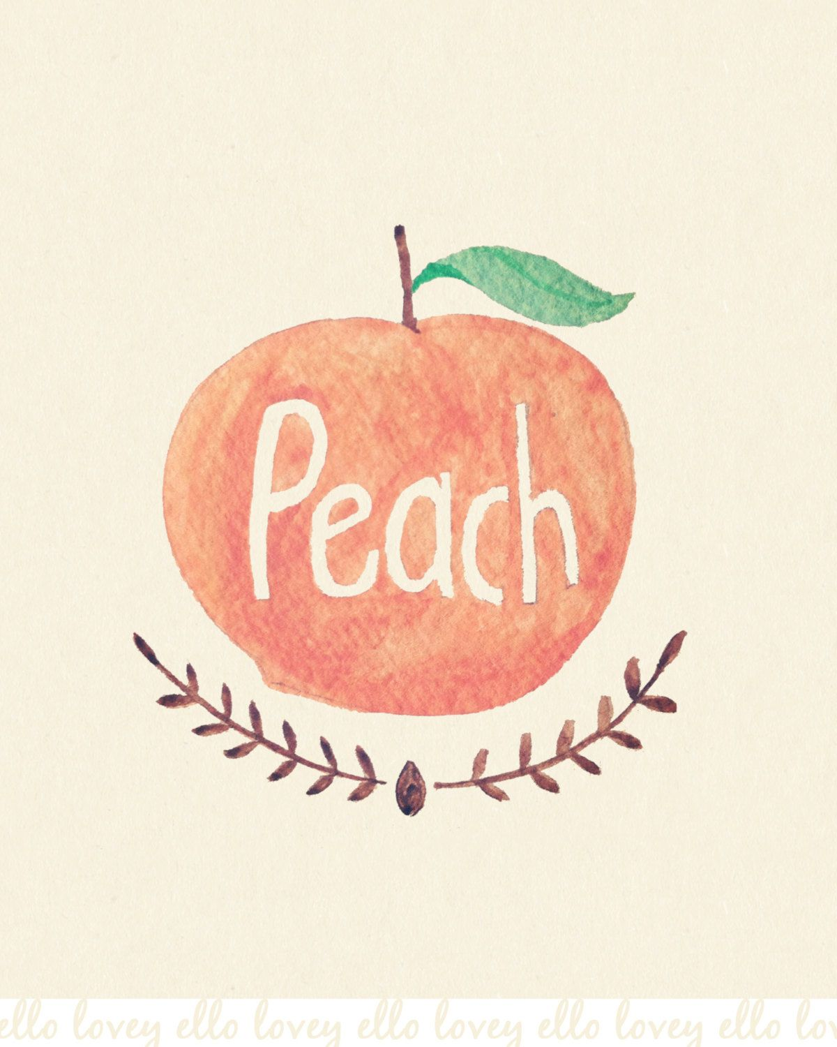 Peach Art Print 5x7 8x10 11x14 Peach Aesthetic Peach Art