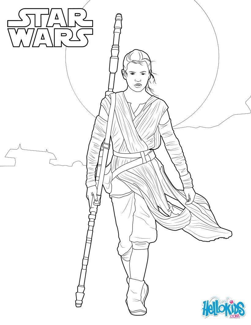 Rey Star Wars Vii Coloring Pages Rey Star Wars Coloring Book