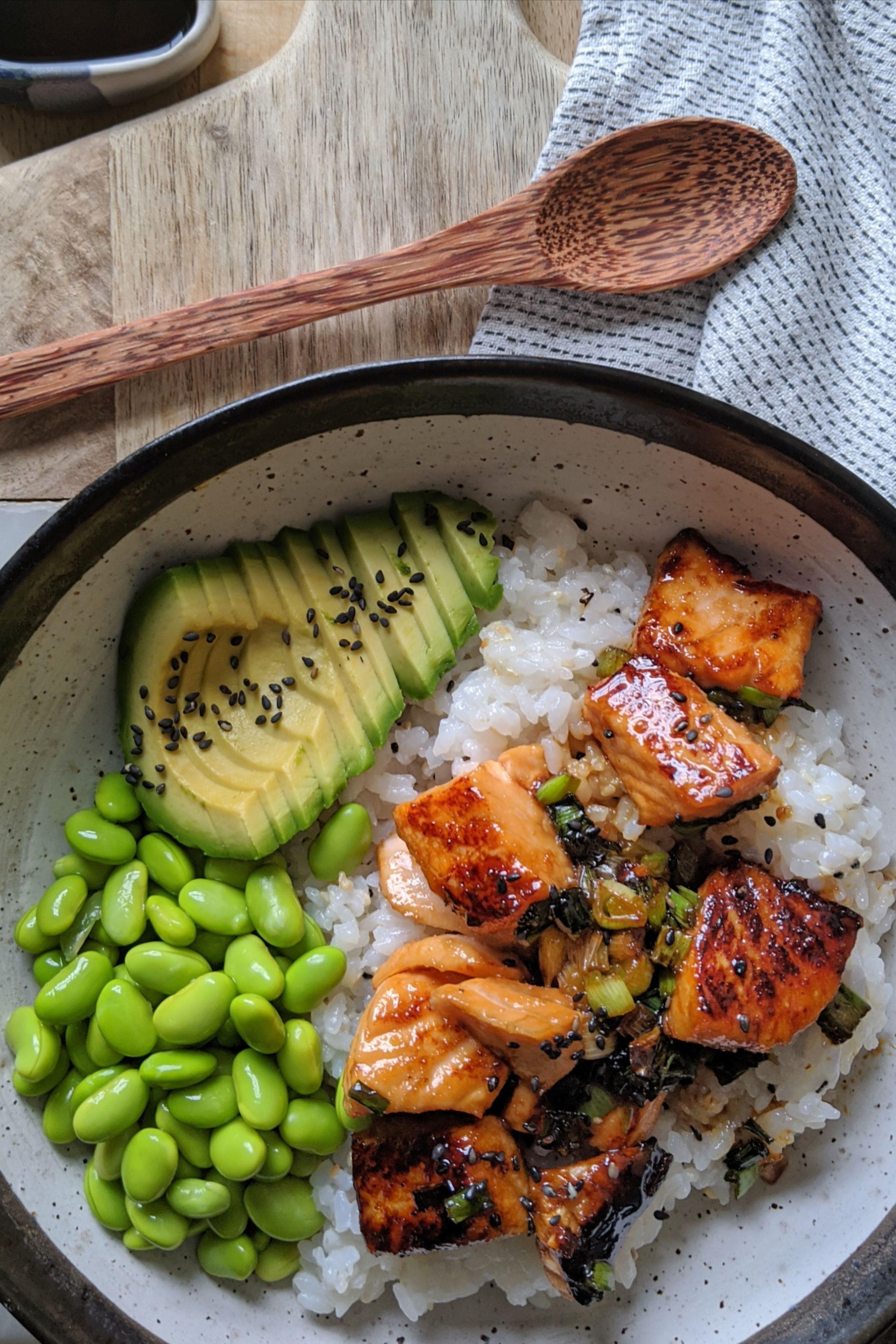 Photo of Teriyaki Salmon Sushi Bowl Recipe