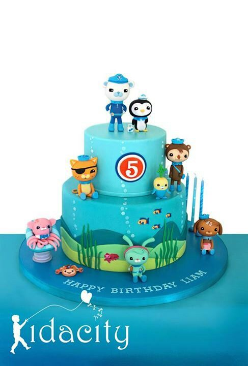 Fantastic How To Make A Rainbow Birthday Cake With Images Octonauts Cake Personalised Birthday Cards Veneteletsinfo