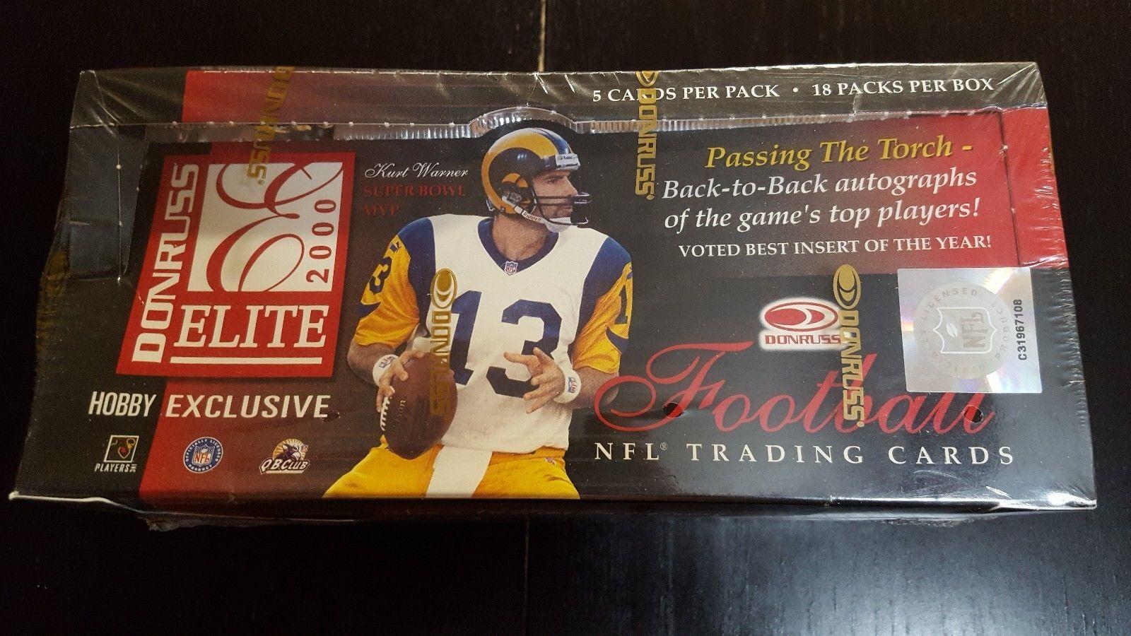 2000 Donruss Elite Football Hobby Box Tom Brady RC!! Free